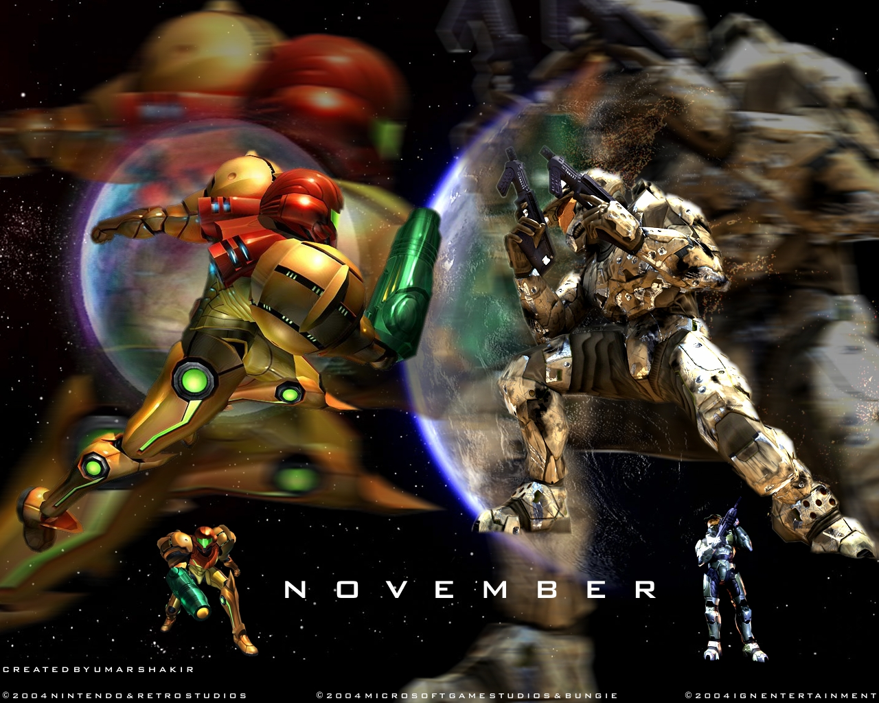 Halo (xbox360) vs Metroid (nintendo) mejorado