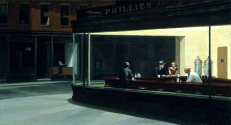 Nighthawks 1942 Friends of American Art Collection, 1942 Reproduction, The Art Institute of Chicago